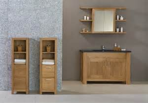 free standing oak bathroom furniture presented to your
