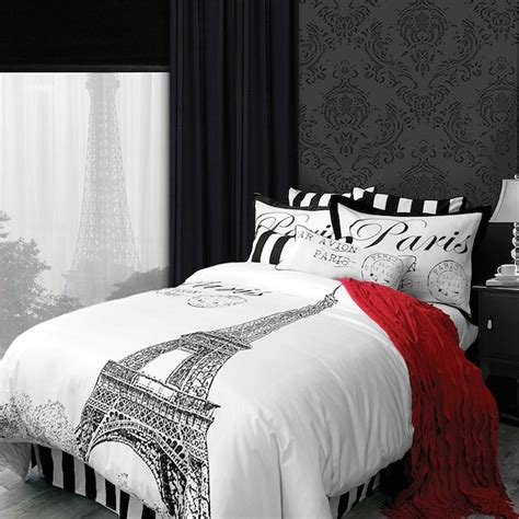 black and white paris bedroom paris black and white bedding pictures to pin on pinterest