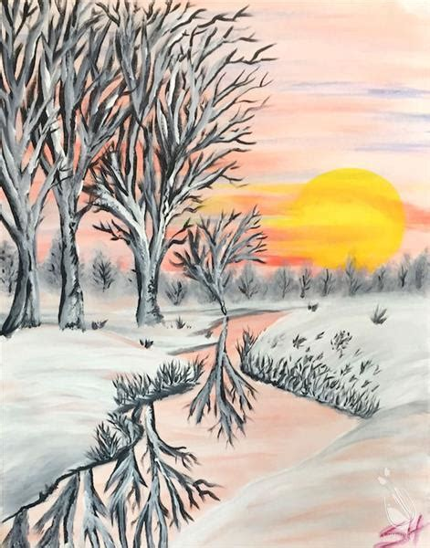 paint with a twist winter winter sun friday january 27 2017 painting with a twist
