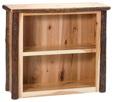 Hickory Bookcase hickory small log bookshelf rustic maple contemporary bookcases by ivgstores