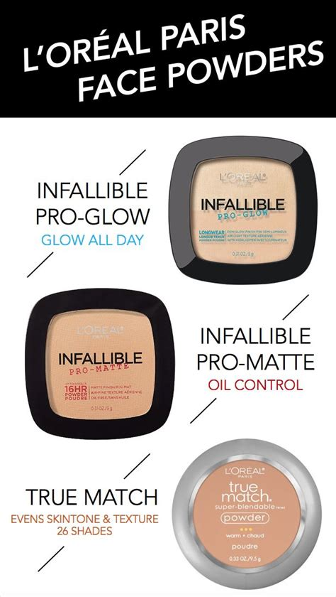 Loreal Infallible Pro Matte Powder 9gr l oreal powders featuring new infallible pro glow plus classic favorites infallible