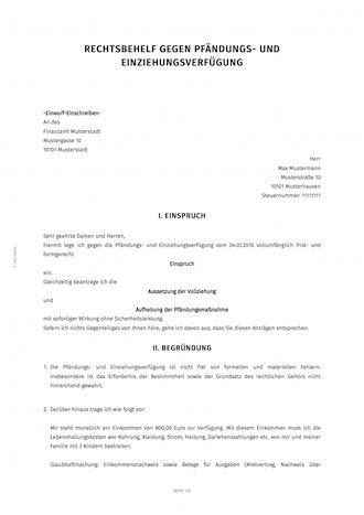 Musterbrief Widerspruch Krankenkasse Direktversicherung einspruch widerspruch gegen kontopf 228 ndung smartlaw