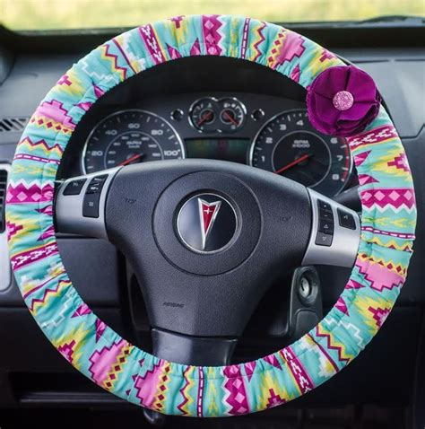 tribal pattern steering wheel cover aztec tribal padded steering wheel cover car decor cute