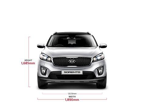 Dimensions Of Kia Sorento Kia Sorento Specifications Crossover Suv Kia Motors