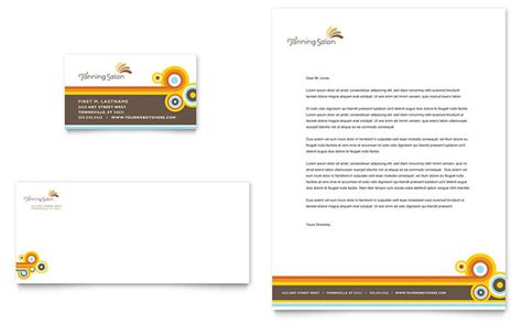 Business Cards Letterhead Tanning Salon Business Card Letterhead Template Design