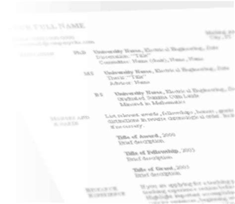 free cv template curriculum vitae template and cv exle