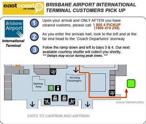 brisbane international airport terminal customer pick  information
