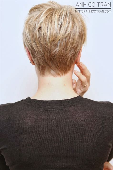 short pixie hair style with wedge in back short wedge hairstyles front and back views
