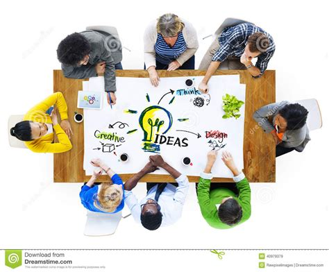 pictures of ideas multiethnic group of people planning ideas stock image