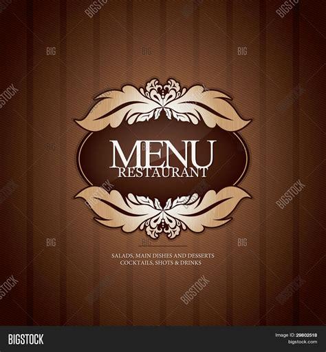 restaurant menu card design stock vector illustration of elegant