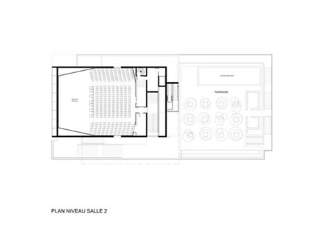 cinema floor plan etoile lilas cinema hardel et le bihan architectes