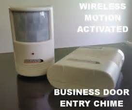 Business Door Chime by Wireless Motion Detector Business Entrance Exit Door Bell