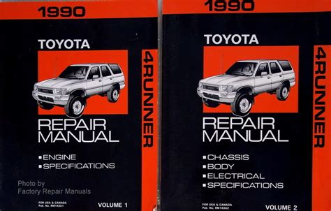 1990 toyota 4runner factory service repair manual 2 volume set factory repair manuals