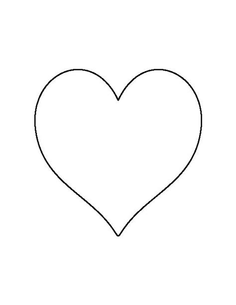 pattern formation heart 6 inch heart pattern use the printable outline for crafts