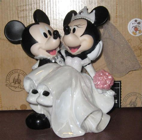 mickey and minnie mouse disney wedding cake topper disney parks wedding mickey minnie mouse cake topper figurine figure on popscreen