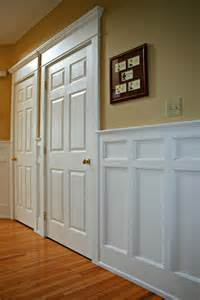Wainscoting Ideas For Dining Room Mission Style Recessed Panel Wainscoting Door Casings Arts And Crafts Style Wainscoting And