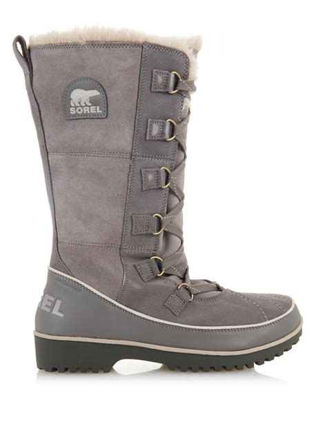 gray boots sorel tivoli ii suede snow boots in gray lyst