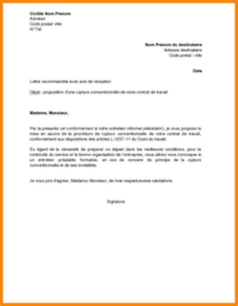 Résiliation De Travail Lettre 7 Exemple Lettre Rupture Conventionnelle Lettre De Demission