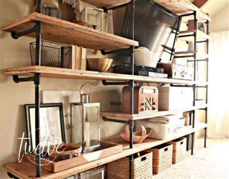 Iron Pipe Bookshelf Diy Industrial Pipe Shelves Twelve On Main