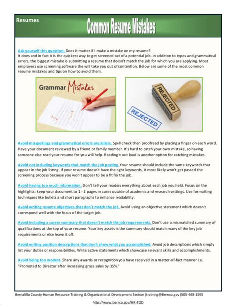 Resume Mistakes by 10 Common Resume Mistakes Most Make