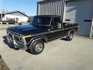 buy used 77 1977 ford f 100 xlt swb a c p s p b bed 2wd black on black survivor in newport