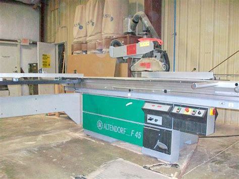 altendorf f45 sliding table saw used picture framing