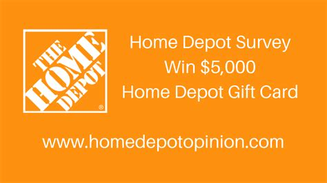 Win Gift Cards For Surveys - home depot survey homedepot com survey win 000 gift card