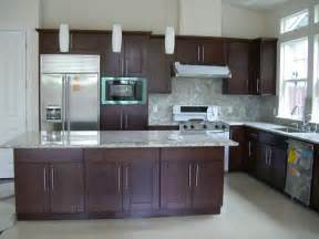 Espresso Color Kitchen Cabinets Hong Bo Hardware Supply Fremont New Build House Chocolate Shaker Cabinets Beige Porcelain