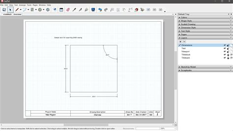 sketchup layout dwg export can text dimensions be converted to outlines pro