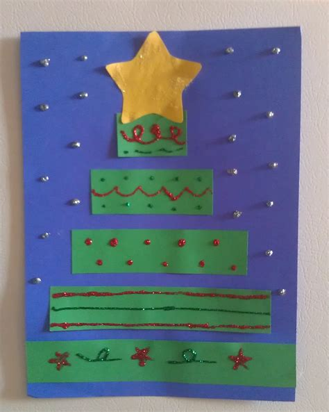 construction paper christmas tree craft woo jr kids
