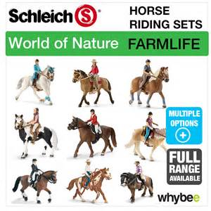 Barn And Animals Toy Schleich World Of Nature Farm Life Horse Riding Sets Horse
