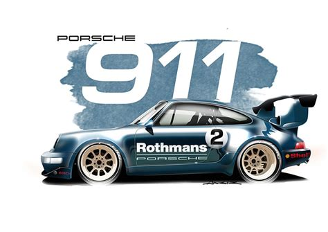 rwb porsche logo porsche 993 gt2 rothmans print simply petrol