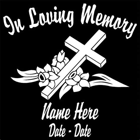 Auto Decals In Memory Of by In Loving Memory Car Decals Custom Decals Autos Post