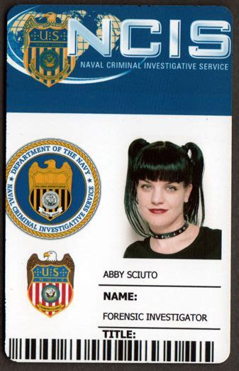 Ncis Id Card Template by Abby Sciuto Search Costume Ideas