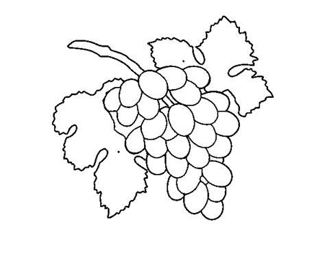 imagenes de uvas a color para imprimir dibujo de racimo de uvas para colorear dibujos net