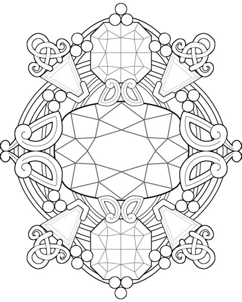 printable coloring pages gemstones free printable abstract coloring pages for adults