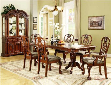marisol cherry finish formal dining room table set buy furniture of america cm3557t set medieve formal dining