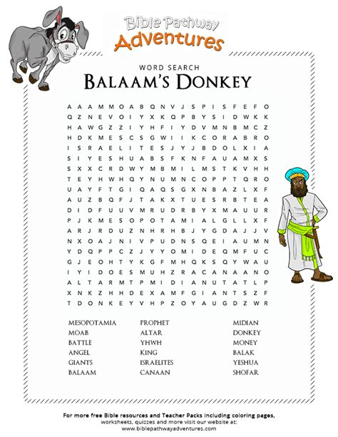 bible word search balaam s donkey free download