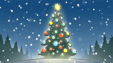 animated christmas trees with snow wallpapers animated snow wallpaper wallpapersafari