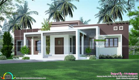 single floor house plans indian style 1775 sq ft flat roof one floor home kerala home design