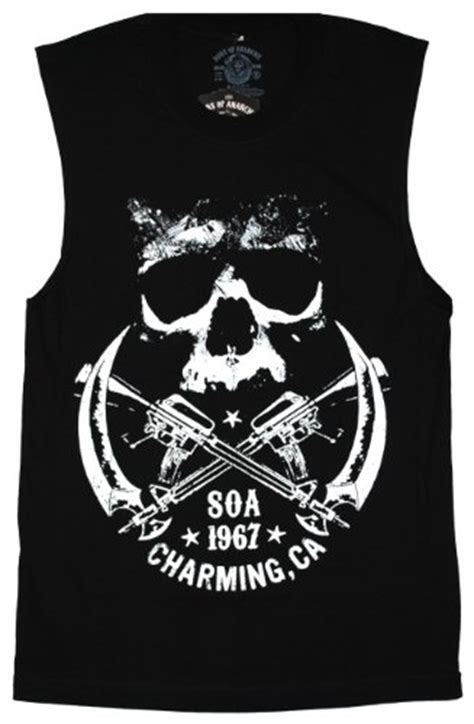 sons of anarchy l sons of anarchy crossed weapons logo tank top soa