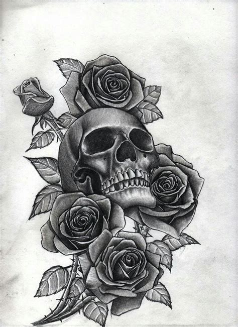 skull with roses s