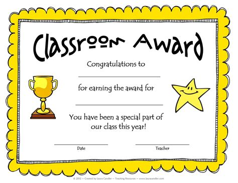 free award template from laura candler school pinterest