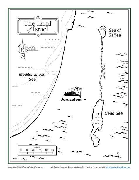 coloring page map of israel the land of israel bible map children s bible activities