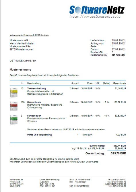 Musterrechnung Ebay Softwarenetz Rechnungsprogramm 4 Box Windows Rechnungen Schreiben Faktura Ebay