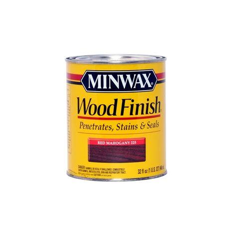minwax red mahogany stain quart