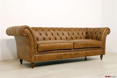 chesterfield divano divano chesterfield vintage originale in vera pelle