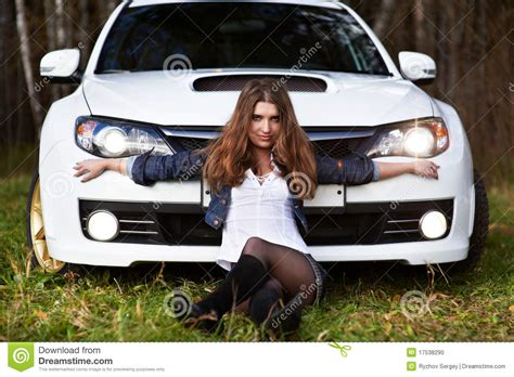 white girly cars beautiful and stylish white sports car stock photo