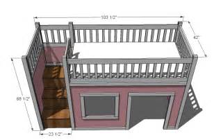 ana white storage stairs for the playhouse loft bed diy projects