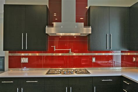 red kitchen backsplash ideas modern kitchen cabinet with tiled backsplash ideas